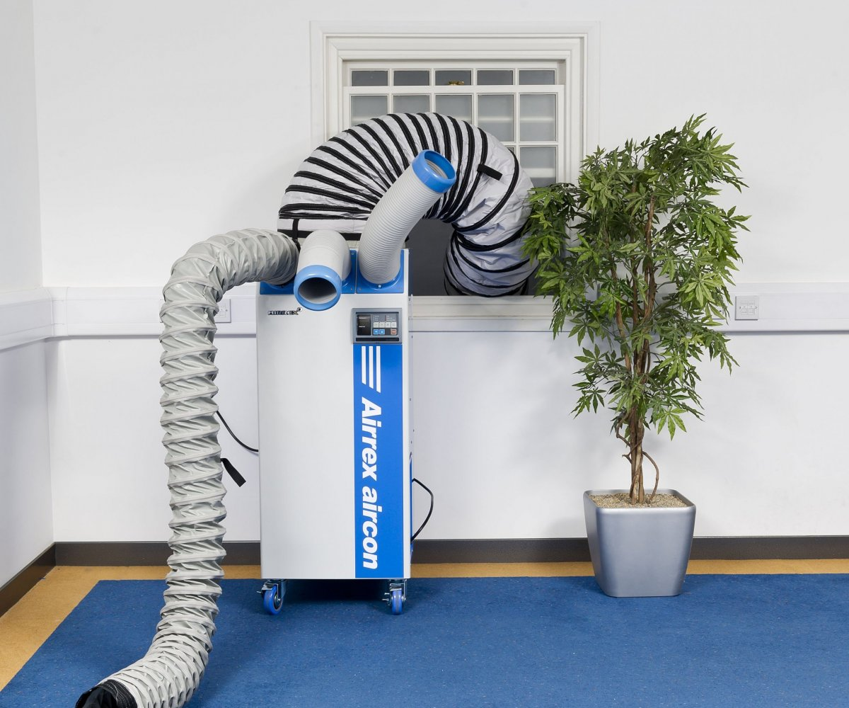 Airrex-HSC3500-in-Office-In-situ-with-Hose-out-Window-and-Cool-Arm-Extension-Web